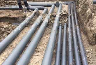 leidingwerk in grond - B-four Hydrogrow