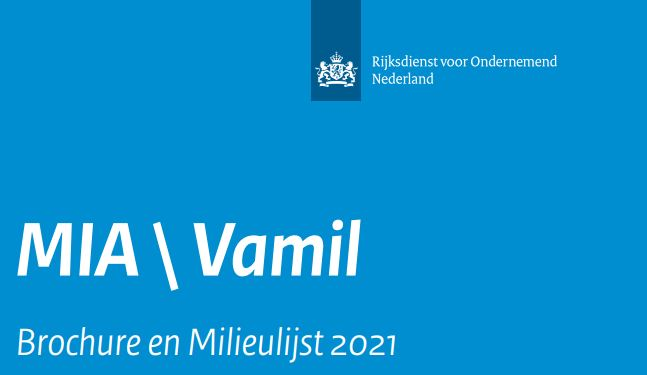 Milieulijst MIA-VAMIL 2021
